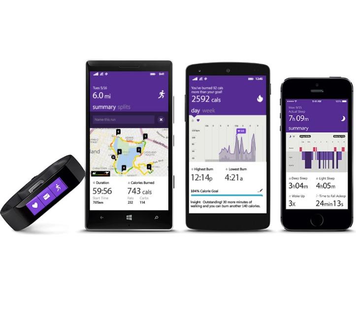 Microsoft Band - WP, Android e iOS