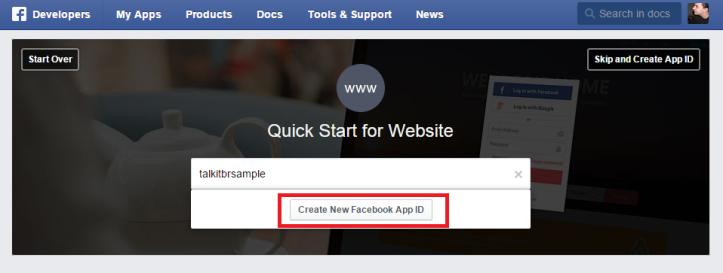 Criando um Facebook App