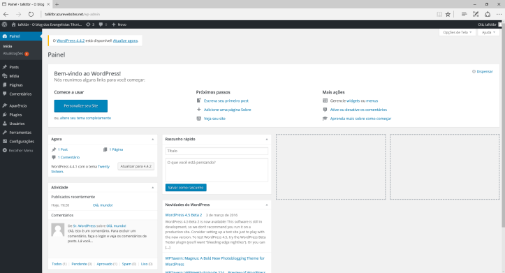 wordpress_azure_blog_dashboard