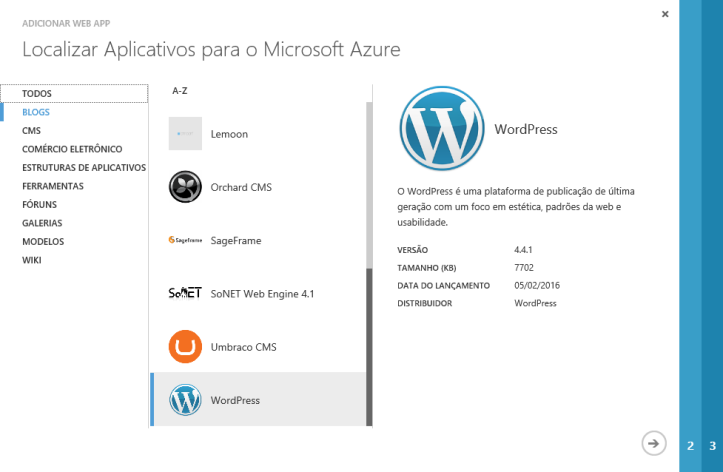 wordpress_azure_select_app