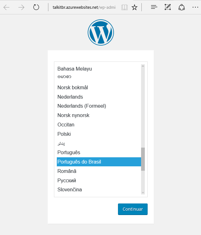 wordpress_azure_select_language