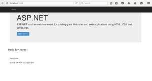 Screenshot do exemplo HelloMvc